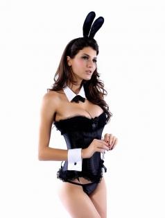 Black Bunny Corset Costume