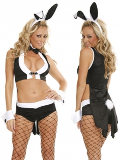 Naughty Adult Sexy Womens Halloween Bunny Costume