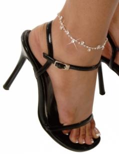 Daisy Ankle Bracelet Rhinestone