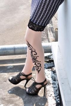 Classic Tribal Inspired Tattoo Stockings
