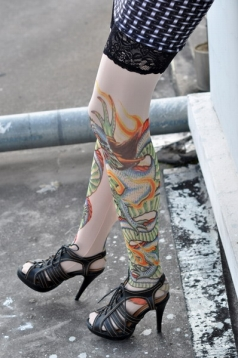 Dragon Inspired Tattoo Stockings