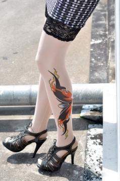 Ghost Eyes Tattoo Stockings