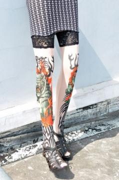 Tattoo Stockings Nylon Leg Wear