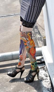 Sun And Moon Tattoo Stockings