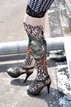 Dragon Of Death Tattoo Stockings