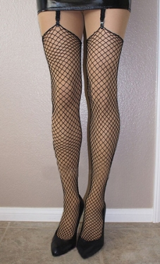 Industrial Fishnets Black Lycra Stockings