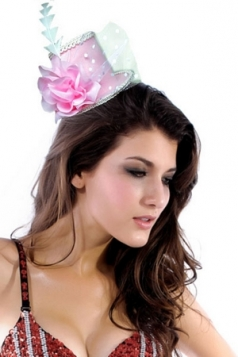 Victoria Mini Top-hat With Lace And Chiffon Flower Chiffon