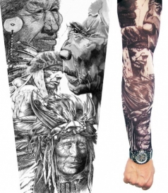 Indian Braves Tattoo Sleeves