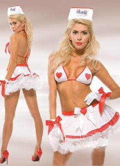 Nice Heart Nurse Costume