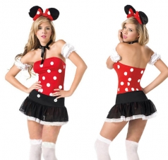 Women's Sexy Minnie Mouse Christmas Costume