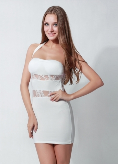 White Hot Halter Dress