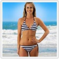 Sexy Stripe Bikini Set