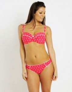 Fancy Dot Red Bikini Set
