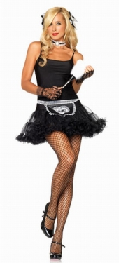 Halloween Black Sexy French Maid Costume