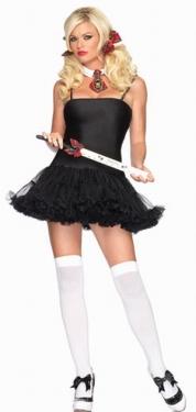 Sexy School Girl Petticoat Dress Halloween Costume