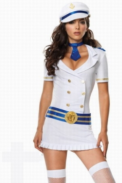 Captivating Captain Sexy Sailor Girl Halloween Costume