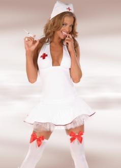 Sexy Halter Naughty Nurse Costume