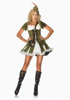 Sexy Green Thief of Robin Hood Womens Costume