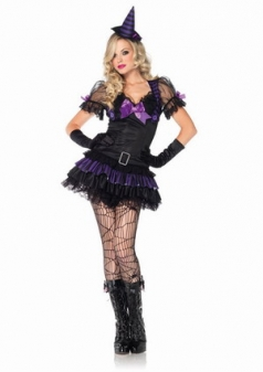 Womens Sexy Black Magic Babe Halloween Witch Costume