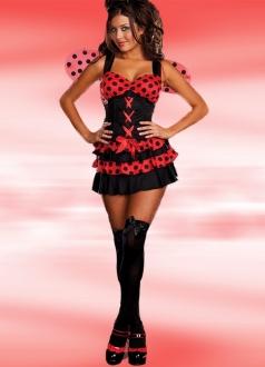Red Black Spot Ladybug Girl Costume