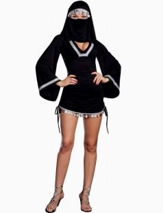 Arab Black Burka Dress Costume