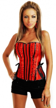 Ladies Red Corset with Zipper
