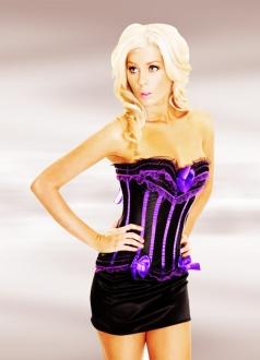 Purple Sexy Deluxe Corset