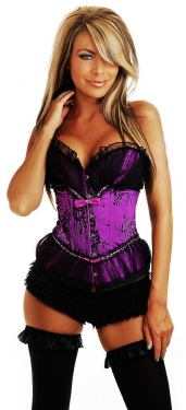 Elegant Purple Lace Corset