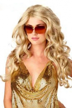 Fashion Long Blond  Party Wig