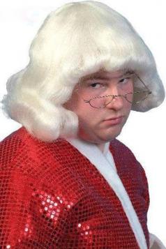 White Weird Doctor Wig