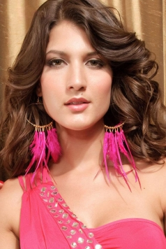 Sexy Rose Feather Earrings