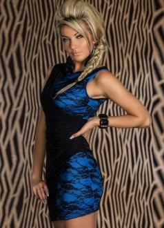 and Lace Splice Mini Bodycon Dress
