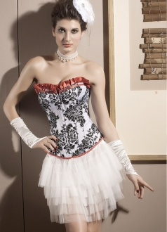 Great Teese Over Bust Damask Corset
