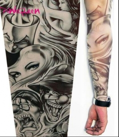 Beauty Clown Tattoo Sleeves