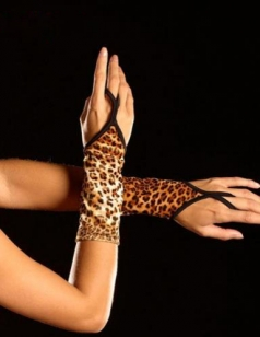 Sexy Fingerless Cheetah Gloves