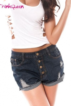 High Waist Loose Style Hot Pants Jean