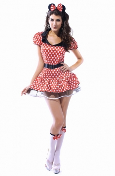 Mesh Adult Minnie Mouse Halloween Costume