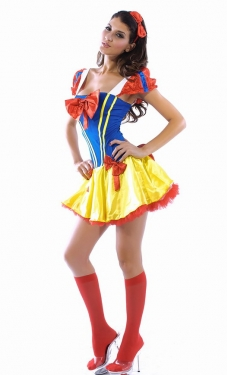 Cute Ladies Snow White Halloween Fairytale Costume