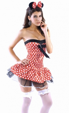 WomensPlayful Minnie Mouse Women Costume