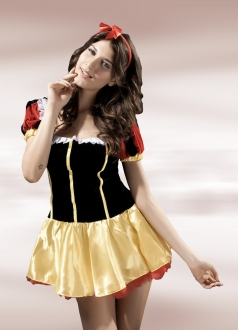 Deluxe Halloween Fairytale Snow White Costume