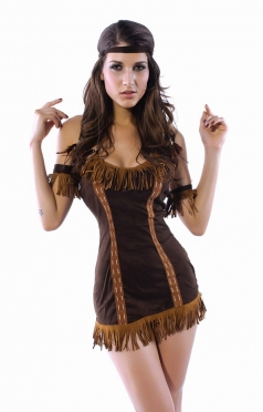 Womens Sexy Native American Indian Pocahontas Costume