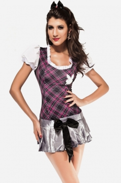 Sexy Plaid School Girl Cosplay Uniform Costume