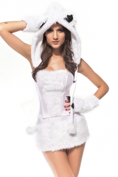 Womens Sexy Polar Bear Halloween Costume