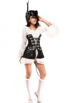 Sexy Lace Rogue Female Pirate Corset Costume