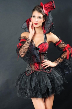 Super Sexy Womens Lace Gothic Vampire Halloween Costume