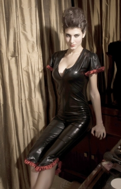 Wetlook Jumpsuit Vinyl Leather Lingerie