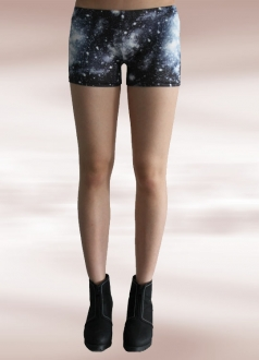 Midnight Sky Blue Galaxy Short