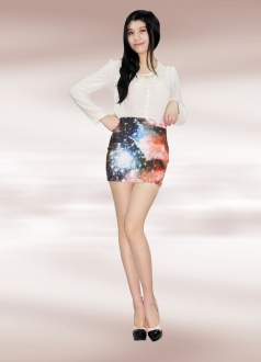 Nebula Galaxy Pencil Skirt