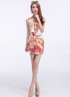 Lady Print Sundress