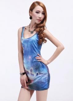 Blue Comos Cloud Dress